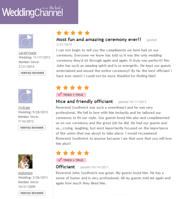Wedding Channel Reviews